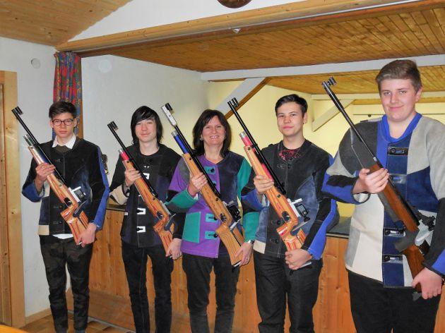 Damen 2 Luftgewehr